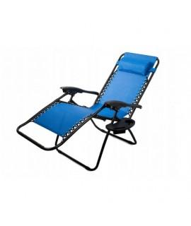 01428 Skladacie plážové kreslo Modré