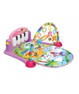 0604R Hracia deka s pianom Kráľovstvo zvierat 3v1