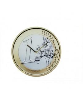 1 Euro nástenné hodiny