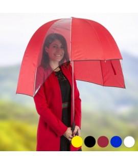 145553 Polguľovitý dáždnik 92cm Červená