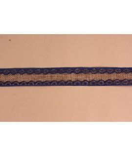 Dekoratívny pás VZOR 2. (š. 2,5 cm) - tmavomodro-hnedý