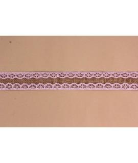 Dekoratívny pás VZOR 2. (š. 2,5 cm) - bledoružovo-hnedý