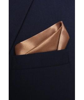 Pánska vreckovka do obleku - hnedá (28x28 cm)