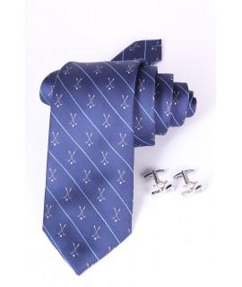 Pánska kravata + manžetové gombíky VZOR 1. (š. 7,5 cm)