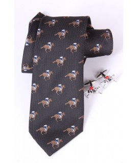 Pánska kravata + manžetové gombíky VZOR 3. (š. 7,5 cm)