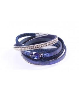 Náramok s magnetickým zapínaním - modro-strieborný 1.