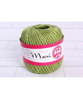 """Háčkovacia priadza """"MAXI"""" (0188) - zelená melírovaná"""
