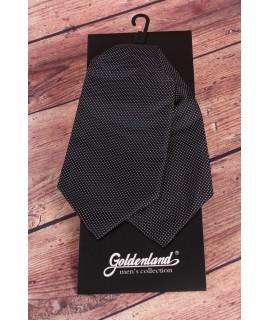 Pánska kravata ASCOT bodkovaná - čierna