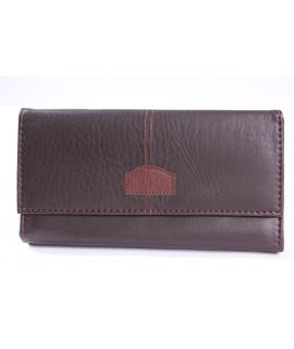 Čašnícka peňaženka DI WANG (8428) - tmavohnedá (19x10 cm)
