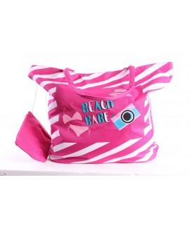 Plážová taška 19018 (55x43x21 cm) - ružová