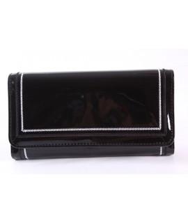 Dámska peňaženka (FLD5009) - čierna (19x10x3 cm)