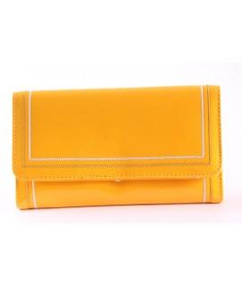 Dámska peňaženka (FLD5009) - žltá (19x10x3 cm)