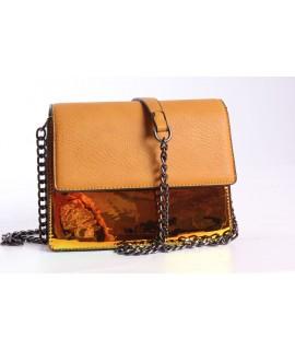 Dámska kabelka (60996) - okrová (20,5x16x10 cm)