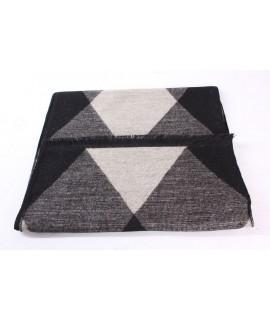 Pánsky šál (6066) - (31x180 cm) - béžovo-čierny