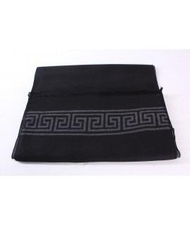 Pánsky šál (6075) - (31x185 cm) - sivo-čierny