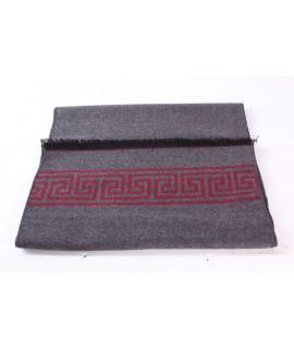 Pánsky šál (6075) - (31x185 cm) - bordovo-sivý
