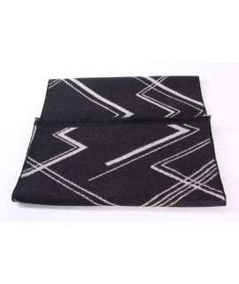 Pánsky šál (6077) - (30x185 cm) - béžovo-čierny