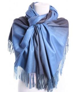Dámsky šál (5903) - (73x192 cm) - modro-sivý