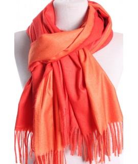 Dámsky šál (5902) - (71x185 cm) - oranžovo-červený