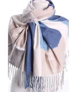 Dámsky šál (5899) - (70x185 cm) - modro-béžový