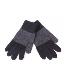 Pánske rukavice dvojfarebné - sivo-čierne