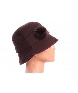 Dámsky klobúk (56-58 cm) - tmavohnedý