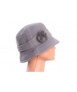 Dámsky klobúk (56-58 cm) - sivý