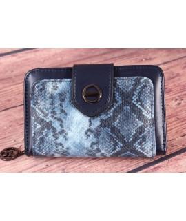 Dámska peňaženka (BY5060) - tmavomodrá (14x9x4 cm)