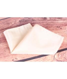 Pánska vreckovka do obleku (15x15 cm) - krémová