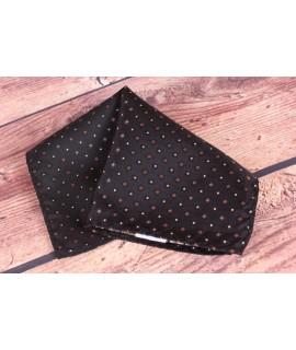 Pánska vreckovka do obleku (20x20 cm) vzorovaná - kocky - hnedo-čierna