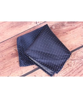 Pánska vreckovka do obleku (20x20 cm) vzorovaná - tmavomodrá