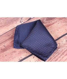 Pánska vreckovka do obleku (20x20 cm) vzorovaná - hnedo-tmavomodrá