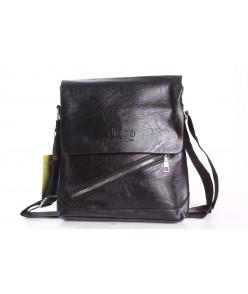 Pánska taška cez plece JEEP VZOR 3. - čierna (24x25x4,5 cm)