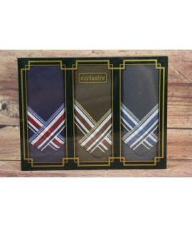 Pánske vreckovky v darčekovom balení M16B (3ks) - farebné