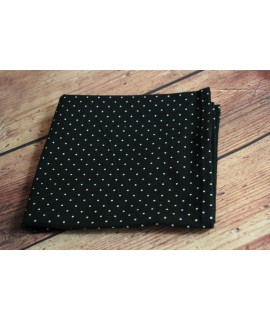 Dámska šatka bavlnená bodkovaná (70x70 cm) - čierna