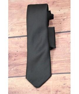 Kravata s vreckovkou do saka - čierna (š. 7cm)