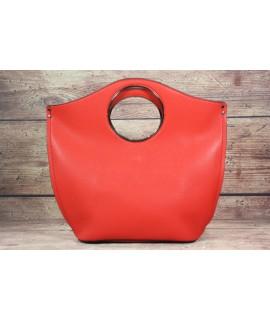 Dámska kabelka 612- červená (24x32x14cm)