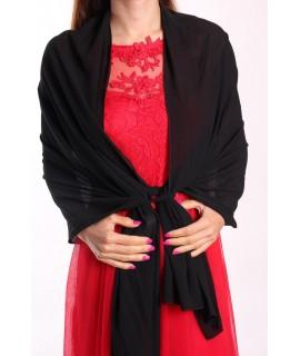 Dámska štóla na šaty ITALY MODA - čierna (70x180 cm)