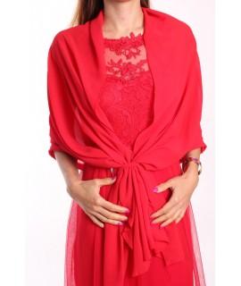 Dámska štóla na šaty ITALY MODA - červená (70x180 cm)