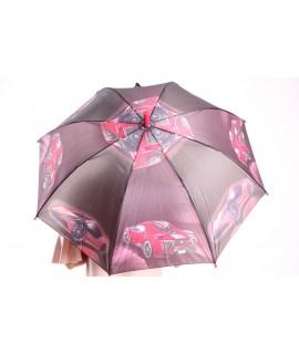 Detský dáždnik s píšťalkou (102F) - červený (p. 87 cm)