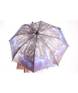 Detský dáždnik s píšťalkou (102F) - fialový (p. 87 cm)