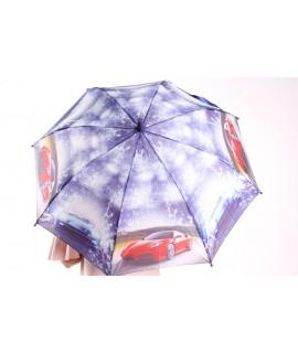 Detský dáždnik s píšťalkou (102F) - tmavofialový (p. 87 cm)