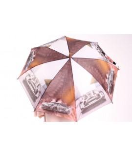 Detský dáždnik s píšťalkou (102F) - hnedý (p. 87 cm)