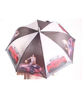 Detský dáždnik s píšťalkou (102F) - bledosivý (p. 87 cm)