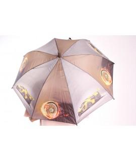 Detský dáždnik s píšťalkou (102F) - sivo-hnedý (p. 87 cm)