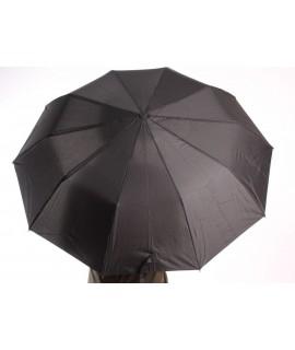 Vystrelovací poloautomatický skladací dáždnik s rúčkou (462) Feeling Rain - čierny (p. 100 cm)