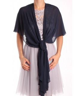 Dámska štóla na šaty (47x220 cm) - tmavomodrá