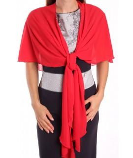 Dámska štóla na šaty (47x220 cm) - červená