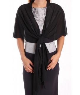 Dámska štóla na šaty (47x220 cm) - čierna