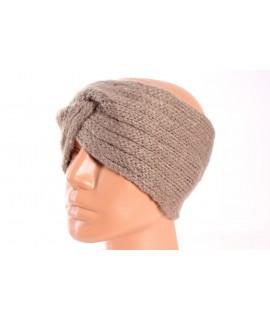 Dámska pletená čelenka (B-13) - hnedá